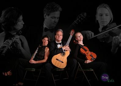 State College of Florida_ Manatee-Sarasota _SCF_ welcomes Trio Voila to perform a variety of musical selections at 8 p.m. Tuesday_ April 12_ in Neel Performing Arts Center_ SCF Bradenton_ 5840 26th St. W.   Trio Voila features Jane Hoffman on flute_ Thomas Koch on guitar and Laura Jensen-Jennings on viola. The trio will perform music from the 19th and 20th centuries along with contemporary compositions. Offering a unique musical experience_ this combination of instruments produces sounds that cannot be created by traditional wind and string ensembles.