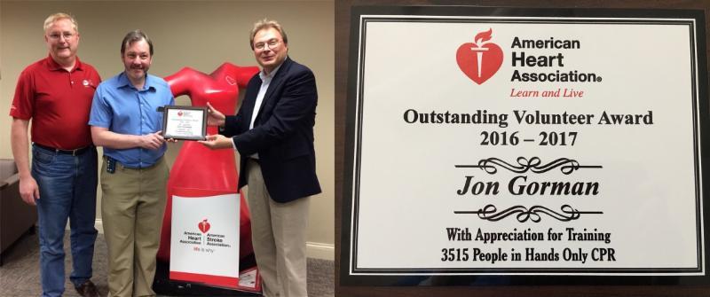 Jon Gorman Volunteer award