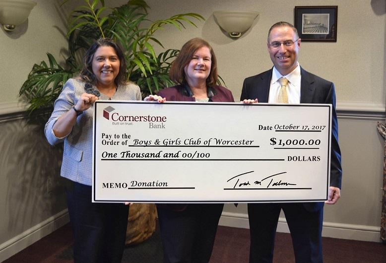 Cornerstone Donates to Boys _ Girl Club