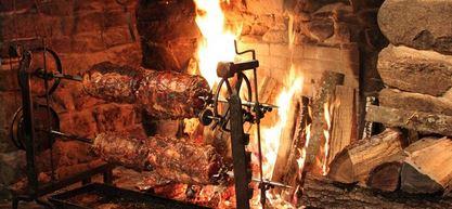 Fireplace feast