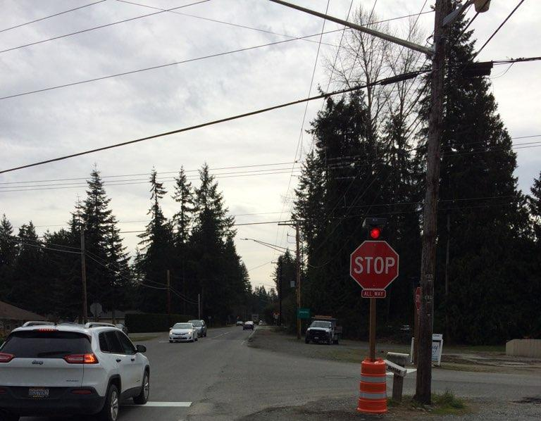 flashing beacon stop sign