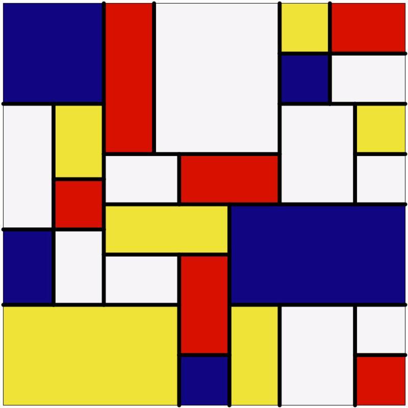 Mondrian Mosaic Square