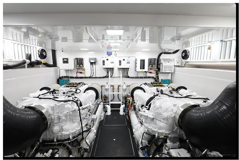 Viking 75 Motor Yacht Engine Room