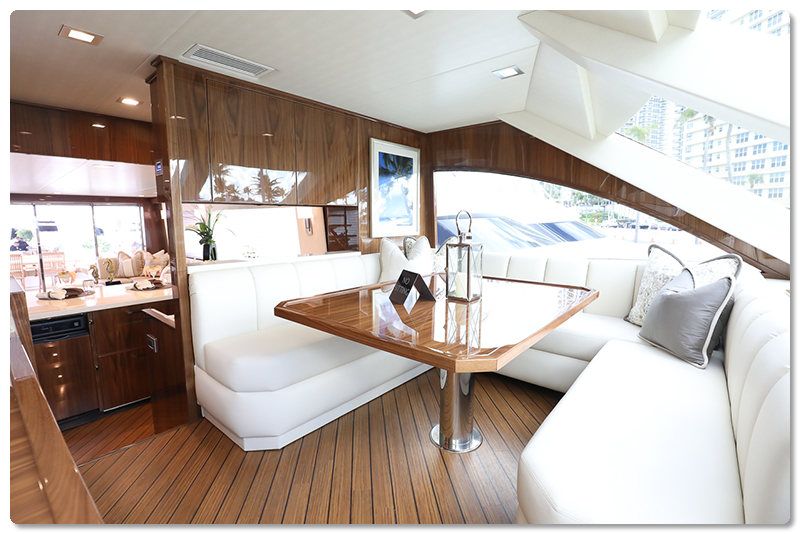 Viking Yachts 75 MY Galley Dinette