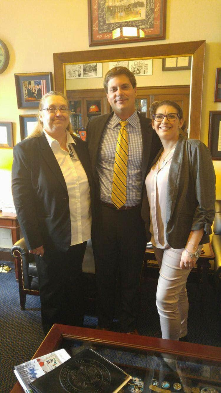 Deborah Taylor National ENA Advocacy with Jeff Freeland from Congressman Christopher Collin's office 27th District New York and Stephanie Taylor (guest of D. Taylor).