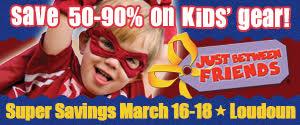 DullesMoms.com Newsletter Sponsor: Just Between Friends Loudoun