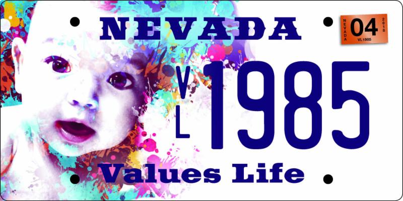 Nevada Pro-Life Plate