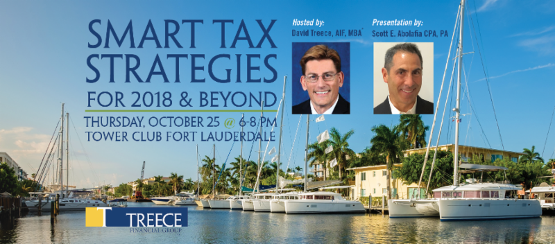 October 25th Fort Lauderdale Smart Tax Strategies for 2018 & Beyond