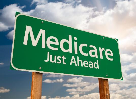 Medicare Just Ahead sign