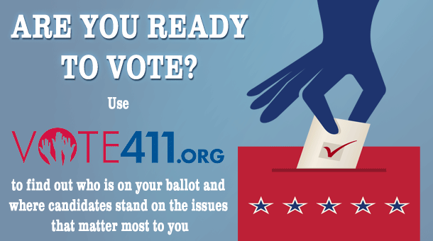vote 411.org logo and link