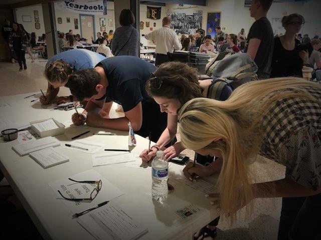 Voter registration at Bullock Creek