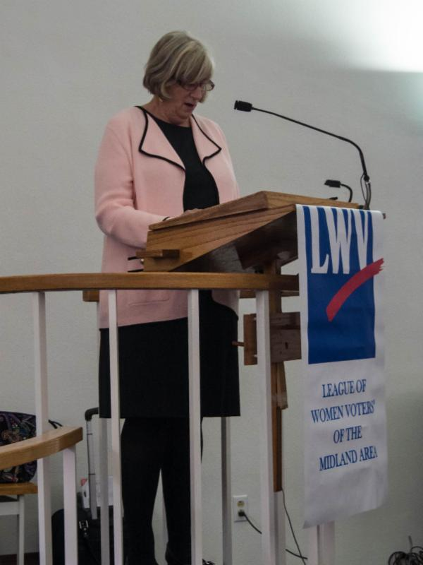 Judy Karandjeff speaks about Democracy at Risk