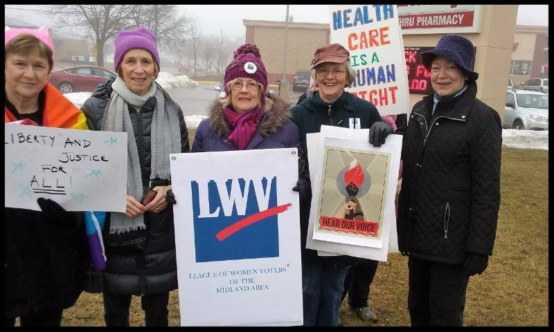 League Members at Midland Women_s March