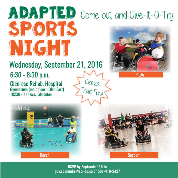 Adapted Sports Night Poster - September 21_ 2016