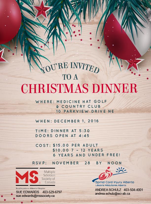 Medicine Hat Christmas Dinner Invitation
