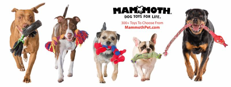 Mammoth Dog Toys Line-Up