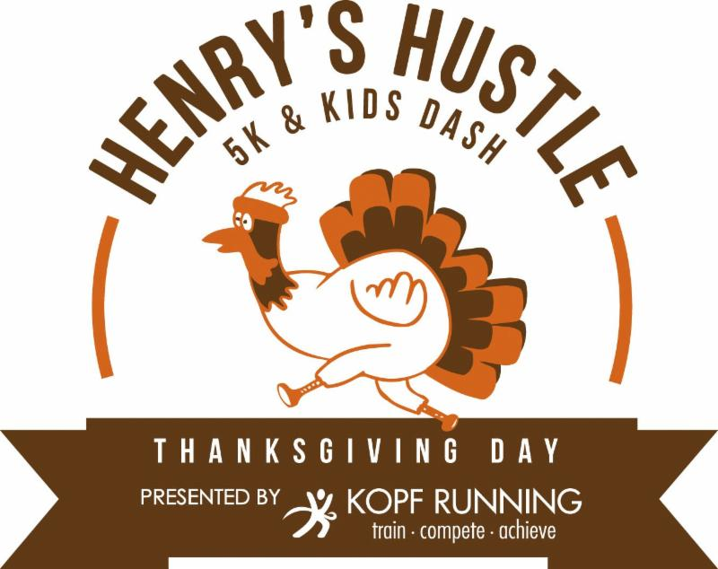 for the 5th annual henrys thanksgiving day hustle 5k kids dash benefiting the muscular dystrophy association