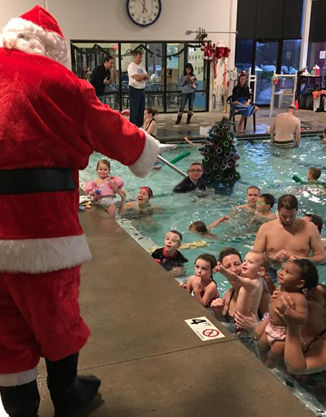 Santa Underwater Tree Party