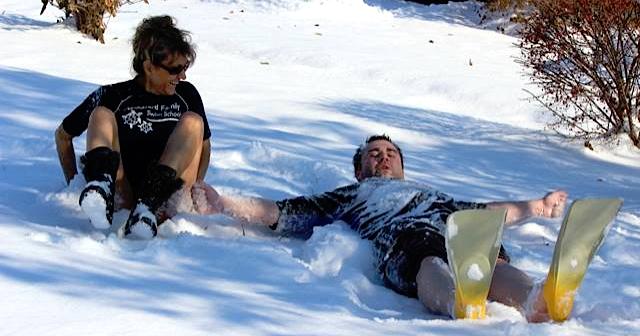 Winter Swimming Snow Fun