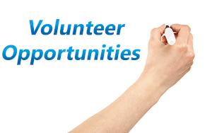 Hand writing volunteer opportunities