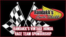 Randakk's Vintage Honda Race Team Sponsorship