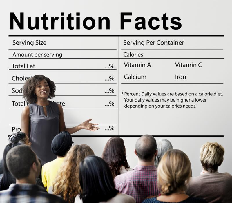 Nutrition Facts Health Medicine Eatting Food Diet Concept