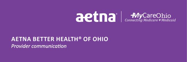 Aetna Better Health of Ohio Provider Notification - 09/02