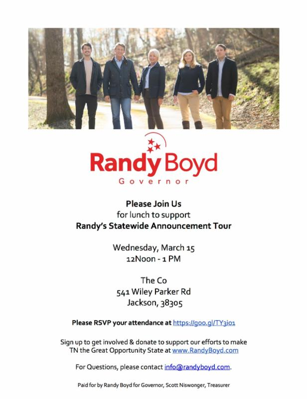 Randy Boyd Annouces his Candiacy for Governor of Tennessee