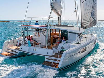 Catamaran sailing vacation