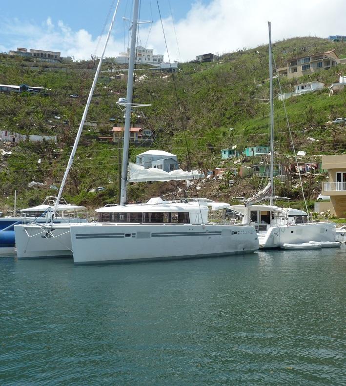 New 2018 Lagoon 450 sails into The Catamaran Company's Company Owned Charter Base in Tortola, BVI