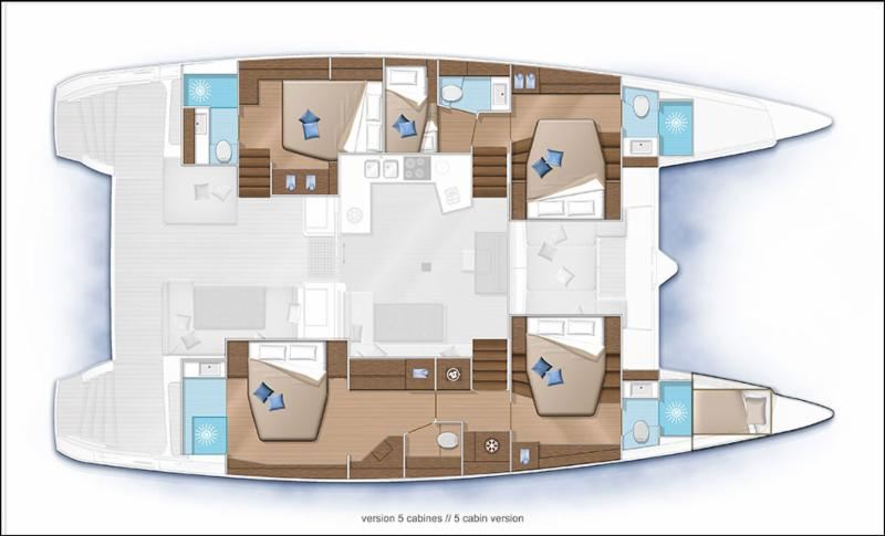 Lagoon 52 5 cabins