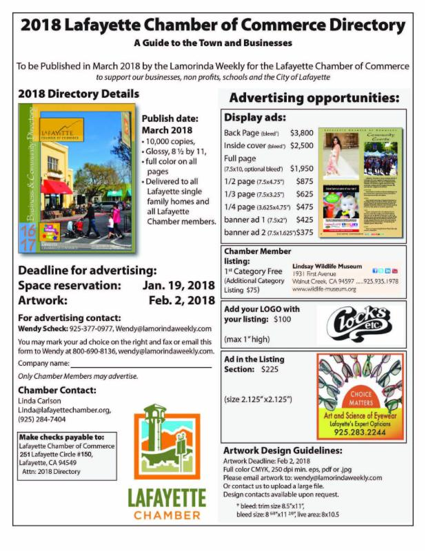 Advertise in the 2018 Directory