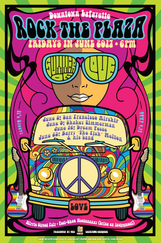 Rock the Plaza - Summer of Love Lafayette 2017