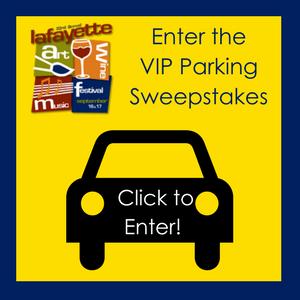 Lafayette Art _ Wine Festival VIP Parking Sweepstakes