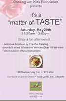 It_s a Matter of Taste Fundraiser Luncheon