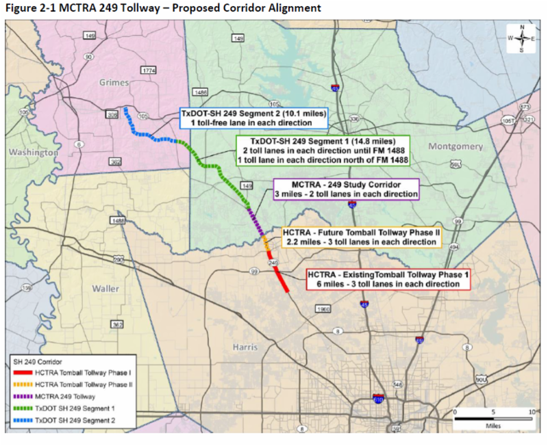if 249 not toll road, project would be unfunded