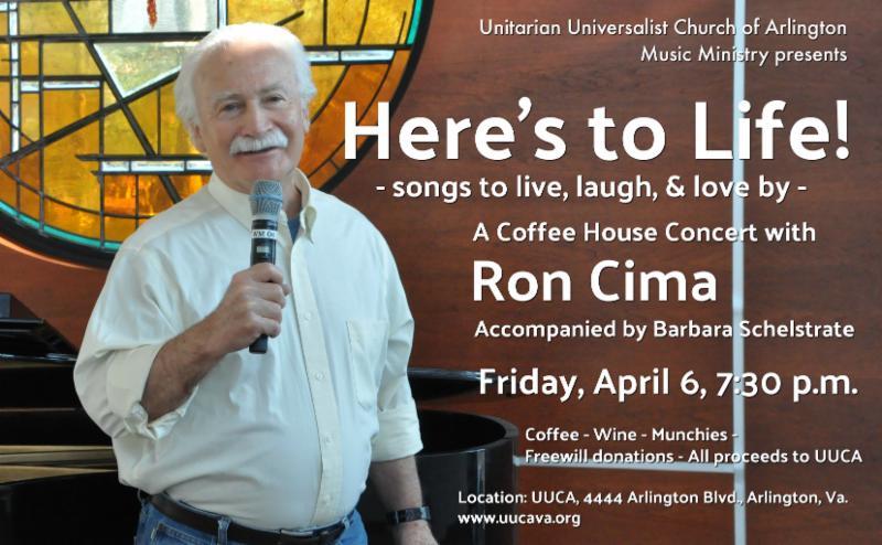 Ron Cima coffee house concert April 6, 7:30 p.m. image