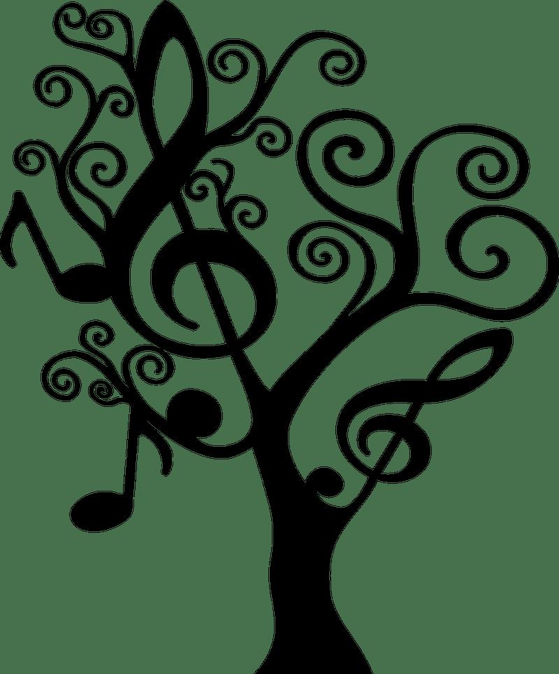 Music tree graphic
