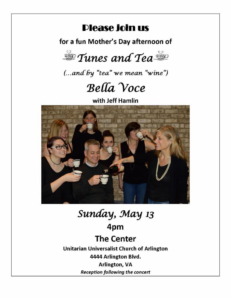 Bella Voce flyer - Concert May 13, 4pm