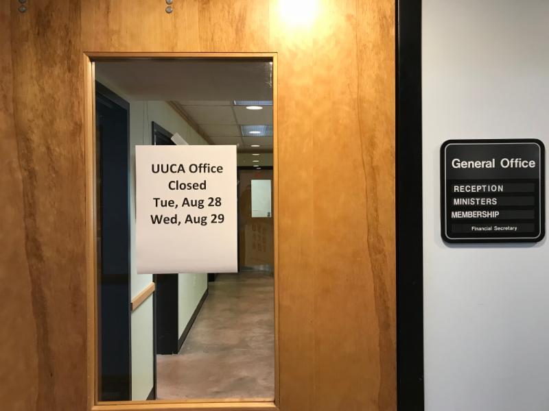 photo of UUCA office door