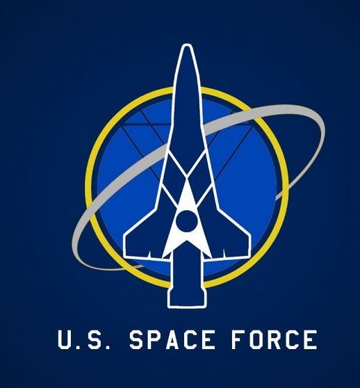 mock US space force logo