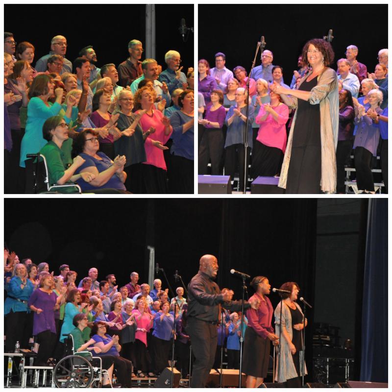 Voices Community Chorus 2018 photo collage