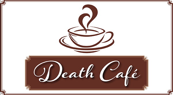 Death Cafe coffee cup graphic