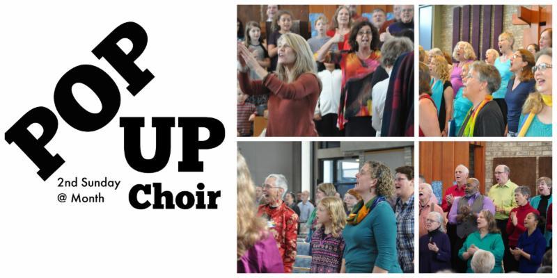 Pop Up Choir photo collage