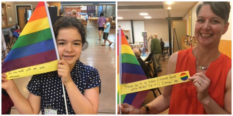 Sponsored rainbow flags