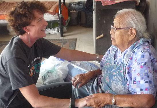 volunteer with Hopi elder