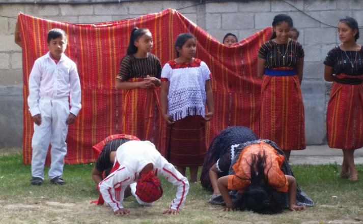 Guatemalan children performing a dance
