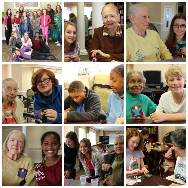 6th Grade photo collage w/ Culpepper residents