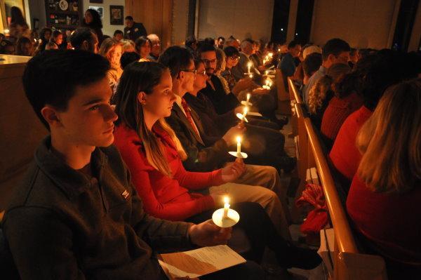 Candlelit sanctuary