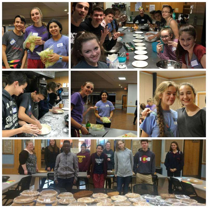 Youth Pie baking photo collage